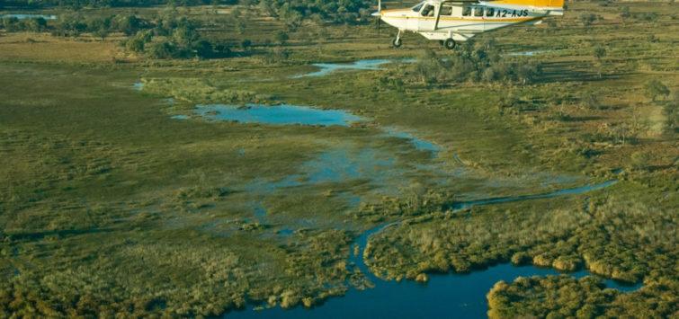 8 Days Botswana Africa Safari okavango-aerial-view