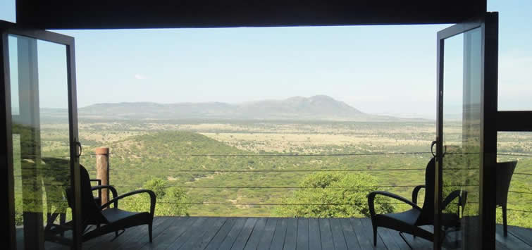 view from cottars camp
